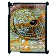 Macro Of The Eye Of A Chameleon Apple Ipad 2 Case (black) by Simbadda