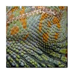 Macro Of Chameleon Skin Texture Background Tile Coasters by Simbadda