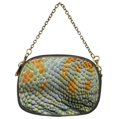 Macro Of Chameleon Skin Texture Background Chain Purses (one Side)  by Simbadda