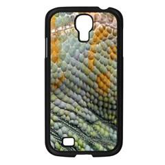 Macro Of Chameleon Skin Texture Background Samsung Galaxy S4 I9500/ I9505 Case (black) by Simbadda