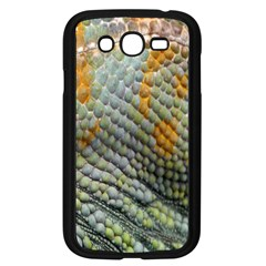 Macro Of Chameleon Skin Texture Background Samsung Galaxy Grand Duos I9082 Case (black) by Simbadda