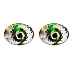 Fractal Universe Computer Graphic Cufflinks (oval) by Simbadda