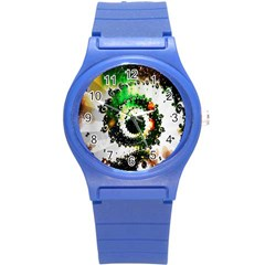 Fractal Universe Computer Graphic Round Plastic Sport Watch (s) by Simbadda