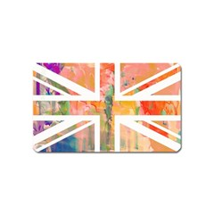 Union Jack Abstract Watercolour Painting Magnet (name Card) by Simbadda