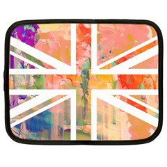 Union Jack Abstract Watercolour Painting Netbook Case (xl)  by Simbadda