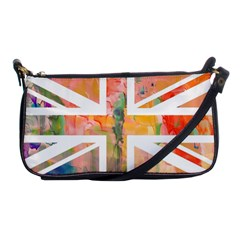 Union Jack Abstract Watercolour Painting Shoulder Clutch Bags by Simbadda