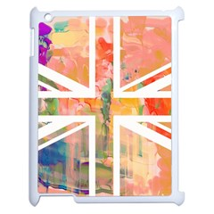 Union Jack Abstract Watercolour Painting Apple Ipad 2 Case (white) by Simbadda