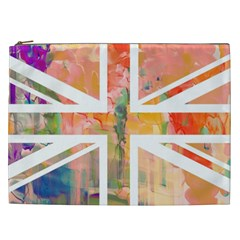Union Jack Abstract Watercolour Painting Cosmetic Bag (xxl)  by Simbadda