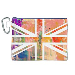 Union Jack Abstract Watercolour Painting Canvas Cosmetic Bag (xl) by Simbadda