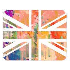 Union Jack Abstract Watercolour Painting Double Sided Flano Blanket (large)  by Simbadda