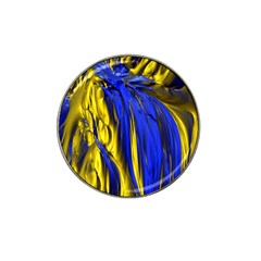 Blue And Gold Fractal Lava Hat Clip Ball Marker (10 Pack) by Simbadda