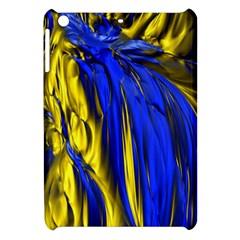 Blue And Gold Fractal Lava Apple Ipad Mini Hardshell Case by Simbadda
