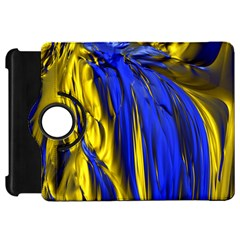 Blue And Gold Fractal Lava Kindle Fire Hd 7  by Simbadda