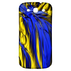 Blue And Gold Fractal Lava Samsung Galaxy S3 S Iii Classic Hardshell Back Case by Simbadda