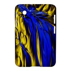 Blue And Gold Fractal Lava Samsung Galaxy Tab 2 (7 ) P3100 Hardshell Case  by Simbadda