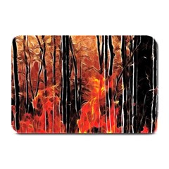 Forest Fire Fractal Background Plate Mats by Simbadda