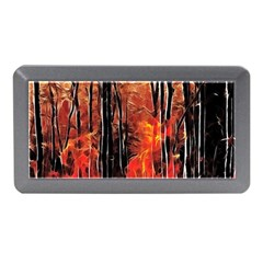Forest Fire Fractal Background Memory Card Reader (mini) by Simbadda