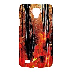 Forest Fire Fractal Background Galaxy S4 Active by Simbadda