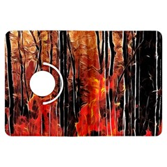 Forest Fire Fractal Background Kindle Fire Hdx Flip 360 Case by Simbadda