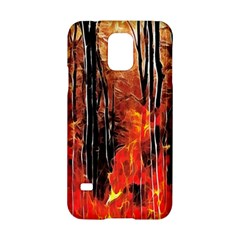 Forest Fire Fractal Background Samsung Galaxy S5 Hardshell Case  by Simbadda