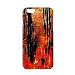 Forest Fire Fractal Background Apple Iphone 6/6s Hardshell Case by Simbadda