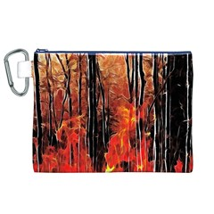 Forest Fire Fractal Background Canvas Cosmetic Bag (xl) by Simbadda