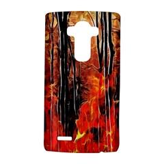 Forest Fire Fractal Background Lg G4 Hardshell Case by Simbadda