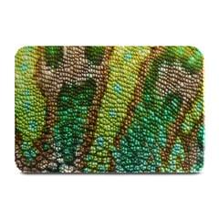 Colorful Chameleon Skin Texture Plate Mats by Simbadda