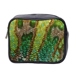 Colorful Chameleon Skin Texture Mini Toiletries Bag 2 Side by Simbadda