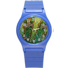 Colorful Chameleon Skin Texture Round Plastic Sport Watch (s) by Simbadda