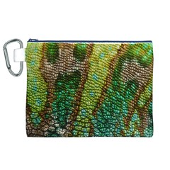 Colorful Chameleon Skin Texture Canvas Cosmetic Bag (xl) by Simbadda