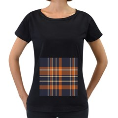 Tartan Background Fabric Design Pattern Women s Loose Fit T Shirt (black) by Simbadda