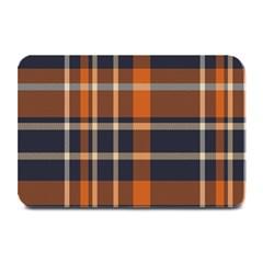 Tartan Background Fabric Design Pattern Plate Mats by Simbadda