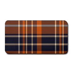 Tartan Background Fabric Design Pattern Medium Bar Mats by Simbadda