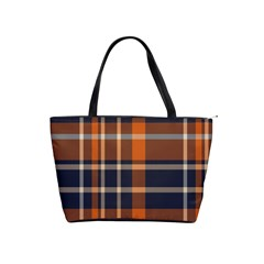 Tartan Background Fabric Design Pattern Shoulder Handbags by Simbadda