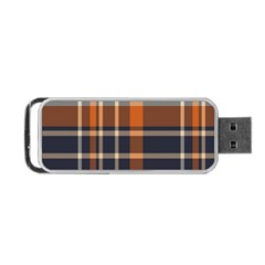 Tartan Background Fabric Design Pattern Portable Usb Flash (two Sides) by Simbadda
