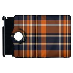 Tartan Background Fabric Design Pattern Apple Ipad 3/4 Flip 360 Case by Simbadda