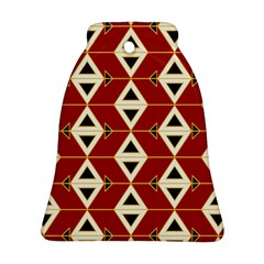 Triangle Arrow Plaid Red Bell Ornament (two Sides) by Alisyart