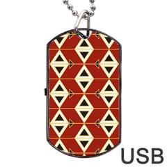 Triangle Arrow Plaid Red Dog Tag Usb Flash (one Side) by Alisyart