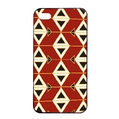 Triangle Arrow Plaid Red Apple Iphone 4/4s Seamless Case (black) by Alisyart