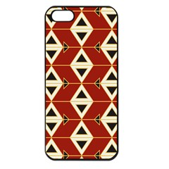 Triangle Arrow Plaid Red Apple Iphone 5 Seamless Case (black) by Alisyart