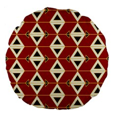 Triangle Arrow Plaid Red Large 18  Premium Flano Round Cushions by Alisyart