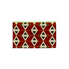 Triangle Arrow Plaid Red Cosmetic Bag (xs) by Alisyart