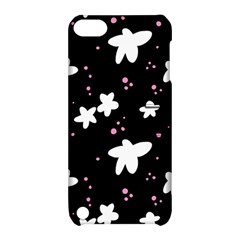 Square Pattern Black Big Flower Floral Pink White Star Apple Ipod Touch 5 Hardshell Case With Stand by Alisyart