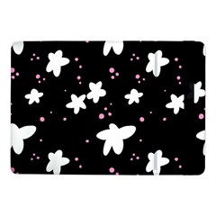 Square Pattern Black Big Flower Floral Pink White Star Samsung Galaxy Tab Pro 10 1  Flip Case by Alisyart