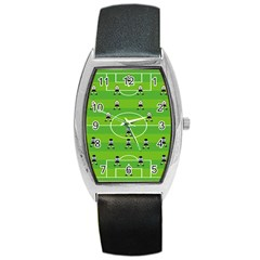 Soccer Field Football Sport Barrel Style Metal Watch by Alisyart