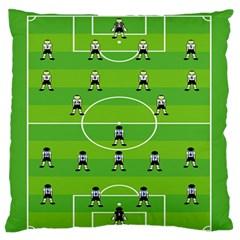 Soccer Field Football Sport Large Flano Cushion Case (one Side) by Alisyart