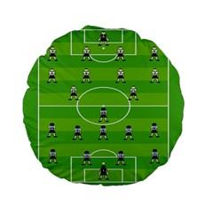 Soccer Field Football Sport Standard 15  Premium Flano Round Cushions by Alisyart