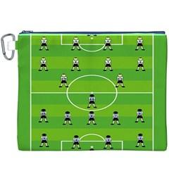 Soccer Field Football Sport Canvas Cosmetic Bag (xxxl) by Alisyart