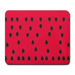 Watermelon Fan Red Green Fruit Large Mousepads by Alisyart